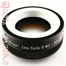 Zhongyi Focal Reducer Booster Lens Turbo II M42 to Sony E Adapter NEX-7 5T A5000