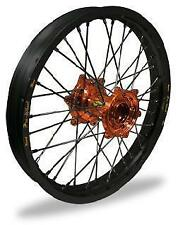 Pro-Wheel - 23-31062 - MX Front Wheel Set, 21x1.60 - Black Rim/Orange Hub