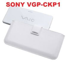 SONY VGP-CKP1 Premium Leather White Carry Case for Vaio VGN-P Series - Brand New