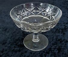 HTF RIPLEY &CO SQUARED STAR COMPOTE CRADLED FANS EAPG US GLASS ANTIQUE VICTORIAN