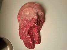 Walking Dead Red Zombie Face Wall Hanging Halloween Decoration Resin Figure
