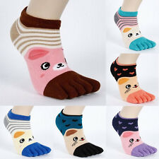 1 Pair Women Socks Lovely Girl Cute Five Random Finger Toe Cartoon Hot Sock Hot