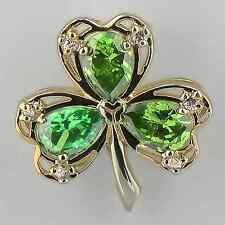 """Sterling Silver Lucky Shamrock Pendant On 18"""" Chain"""