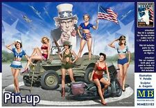 """Master Box 1/35 """"Pin-Up"""" US Girls 6 Figures From 2015 Kit #35183 Factory Sealed"""