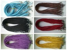 Wholesale Bulk lot 60 pcs 6color Suede Leather String 50cm Necklace Cords