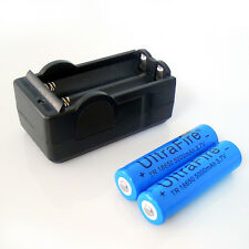 2 PCS18650 Rechargeable Universal Battery 5000mah 3.7 V+Travel Battery Charger