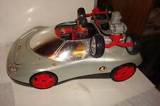 HASBRO ACTION MAN SILVER SPEEDER VEHICLE WITH ACTION MAN & SKATEBOARD