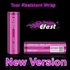 2 x purple EFEST IMR 18650 35A RECHARGEABLE Li-MN Battery 3000mAh  w/ free case