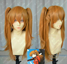 EVA Asuka Soryu Asuka Langley Orange Clip Ponytail Cosplay Wig Hair