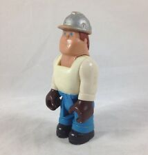 vtg Fisher-Price Action Figure Construction Worker Original 1970s Husky Helper