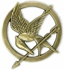 The Hunger Games 1 Catching Fire Mockingjay 3D Prop Rep Pin Brooch Bronze