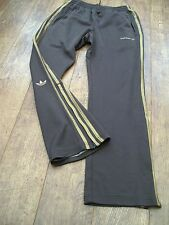 RETRO ADIDAS TRACKSUIT BOTTOMS SIZE SMALL BROWN
