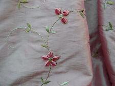 Beautiful Chenille Embroidered Irridescent Raspberry  Taffeta