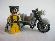 Lego Genuine WOLVERINE Minifigure With Motorcycle from 6866 Wolverine's Chopper