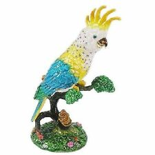 Parrot (Cockatoo) Jeweled Trinket Box with SWAROVSKI Crystals, by RUCINNI