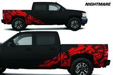 Vinyl Decal Nightmare Wrap Kit for Chevy Silverado 1500/2500 2008-2013 Dark Red