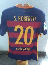 FC BARCELONA #20 Sergi Roberto match worn shirt
