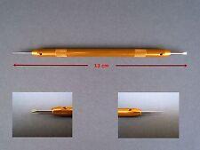 Professionelles Federstegbesteck mit Aluminium-Schaft + auswechselb. Dorn/Gabel