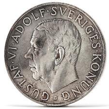 5 Kronor Gustaf VI. Adolf Silber Münze Schweden 1952 Silver coin Sweden