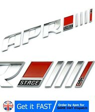 APR III 3+ VW Audi Badge Emblem Chrome Logo Car Sticker R8 RS A3 A4 Q5 Golf