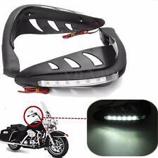 2Pcs Motocicleta Guardamanos Protector Manillar LED Luz Vuelta Señal DRL Lámpara