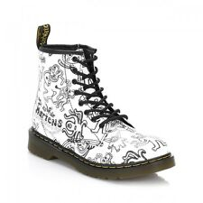 DR MARTENS WIGGY WORLD SOFTY Black + White BNIB UK 2 and 1/2 UK 2.5 Childrens