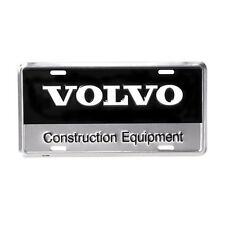 Volvo Construction Equipment Black & Silver Metal Aluminum License Plate