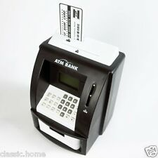 BLACK ATM DIGITAL MONEY BANK DIGITAL COIN NOTE COUNTER MINI ATM GIFT IDEA