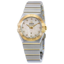 Omega Constellation Mother of Pearl Dial Stainless Steel and 18kt Yellow Gold