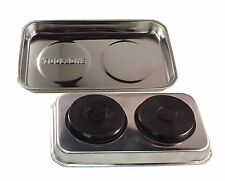 """NEW TOOLZONE MAGNETIC STAINLESS STEEL PARTS TRAY HOLDER DISH 9""""x 5.5"""""""