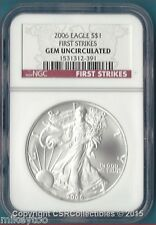 2006 American Silver Eagle First Strikes - NGC GEM UNCIRCULATED