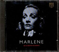 MARLENE DIETRICH - Her 18 Greatest Recordings - Europe CD 1994 - Lili Marlene