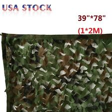 """1* 2M 39""""*78"""" Woodland Camouflage Net Camo Military Hunting w/ String Netting US"""