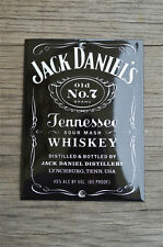Superb heavy quality porcelain advertising sign Jack Daniels Whiskey plaque
