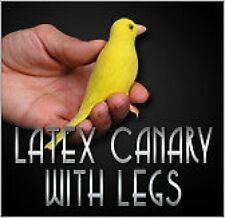 Deluxe REALISTIC FAKE RUBBER YELLOW CANARY Bird Parakeet Latex Prop Magic Trick