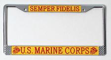 U.S. Marine Corps 'Semper Fidelis' License Plate Frame