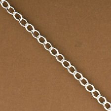 Sterling Silver Extension Chain,Cable Chain,.925 Wholesale Oval Extender Chain