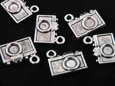 10 Pcs - 13mm Tibetan Silver Camera Charms Necklace Pendant Craft Beading J105