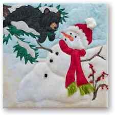 """McKenna Ryan """"Snow Buds"""" Pattern Snowman Melt Down (Block 3) DIY Bear Quilting"""