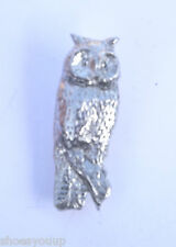 Owl Wise Barn Owl Handcrafted in Solid Pewter In The UK Lapel Pin Badge