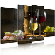 Large Canvas Prints Modern Home Decor Wall Art Split Picture Wine Food Unframed