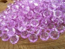 200 pce Sparkling Purple Faceted Abacus Acrylic Beads 8mm x 5mm