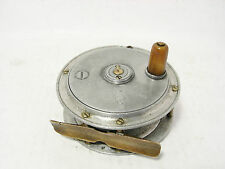 "VINTAGE antico in lega William landell di Glasgow HERCULES 3 ⅜ ""FLY FISHING REEL"
