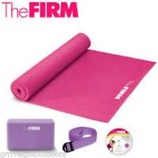 the Firm Beginner's Yoga Kit Mat Brick Strap Slim Solutions Yoga Workout DVD