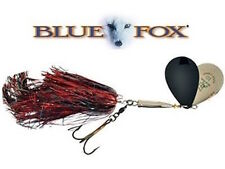 BLUE FOX SUPER VIBRAX MUSKY TWIN TURBO  Black Flash    #10