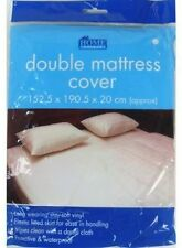 DOUBLE WATERPROOF FITTED MATTRESS PROTECTOR-SHEET,BED COVER/WETTING WET SHEET