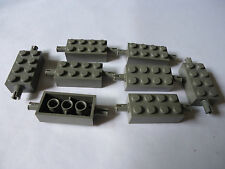 2 x 4 GREY MODIFIED BRICK x 8 WITH PINS PART 6249