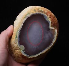 467g Rare Natural Enhydro Moving Bubble Agate Crystal Stone