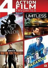 Act of Valor / Limitless / Machine Gun Preacher / Paranoia (DVD) Fast Shipping!