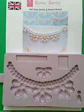 Karen Davies Art Deco Jewels and Pearls Sugarcraft mould FAST SHIPPING!